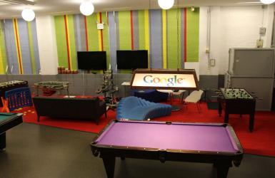 Game room in Google New York office