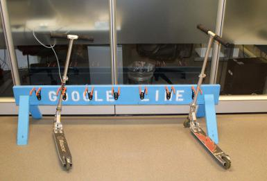 Scooters in the Google New York office