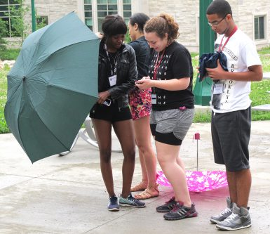 Students on the HSJI communications team worked on a video about the week's experiences. (Marah Harbison   The Media School)