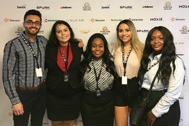 IU seniors Amber Winborn, Melissa Dvojacki and Omeed Malek and juniors Ashley Renken and Khaila King attended Publicis Media's Multicultural Talent Pipeline