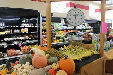 The Lost River Market and Deli produce section