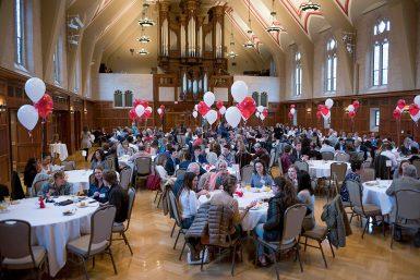 110 awards were presented to 76 Media School students who gathered into Alumni Hall on April 2. (Ann Schertz   The Media School)