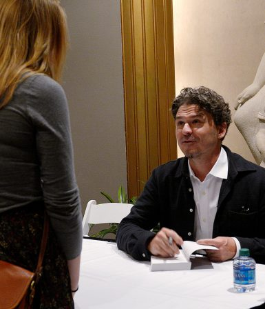 Eggers signing books