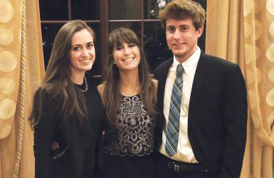 From left, Hannah Alani, Taylor Telford and Jordan Guskey at the Hearst Journalism Awards Program's banquet in San Francisco June 1. (Ruth Witmer | Courtesy photo)
