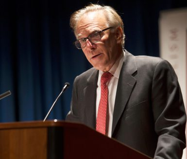 Washington Post columnist David Ignatius was on campus Monday and Tuesday as a guest of the school's Speaker Series. He also received the Lee H. Hamilton Public Service Fellowship from the IU Center on Congress. ( Photo by Ben Wiggins)