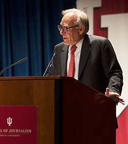Ignatius talked about successful politicians who have been rooted in the heartland and their abilities to bring leadership to politics. (Photo by Ben Wiggins)
