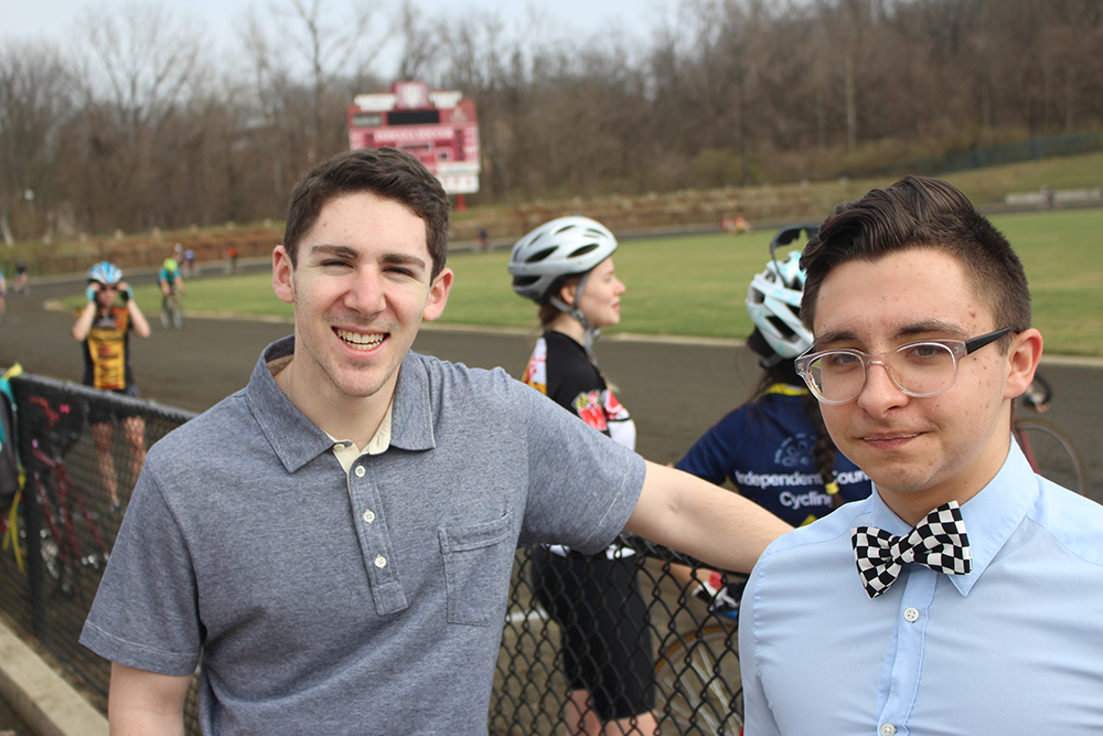 From left, Josh Eastern and Eddie Cotton will cover the men's race.
