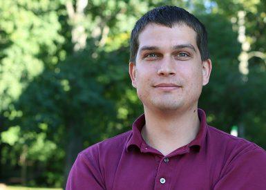 Doctoral student Mark Alberta