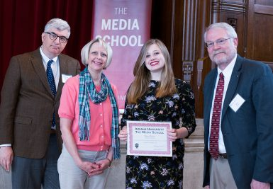 Nyssa Kruse received the Ralph L. Holsinger Scholarship, and Patrick Siddons and Diane Siddons Indiana Daily Student Scholarship. (Ann Schertz Photography)