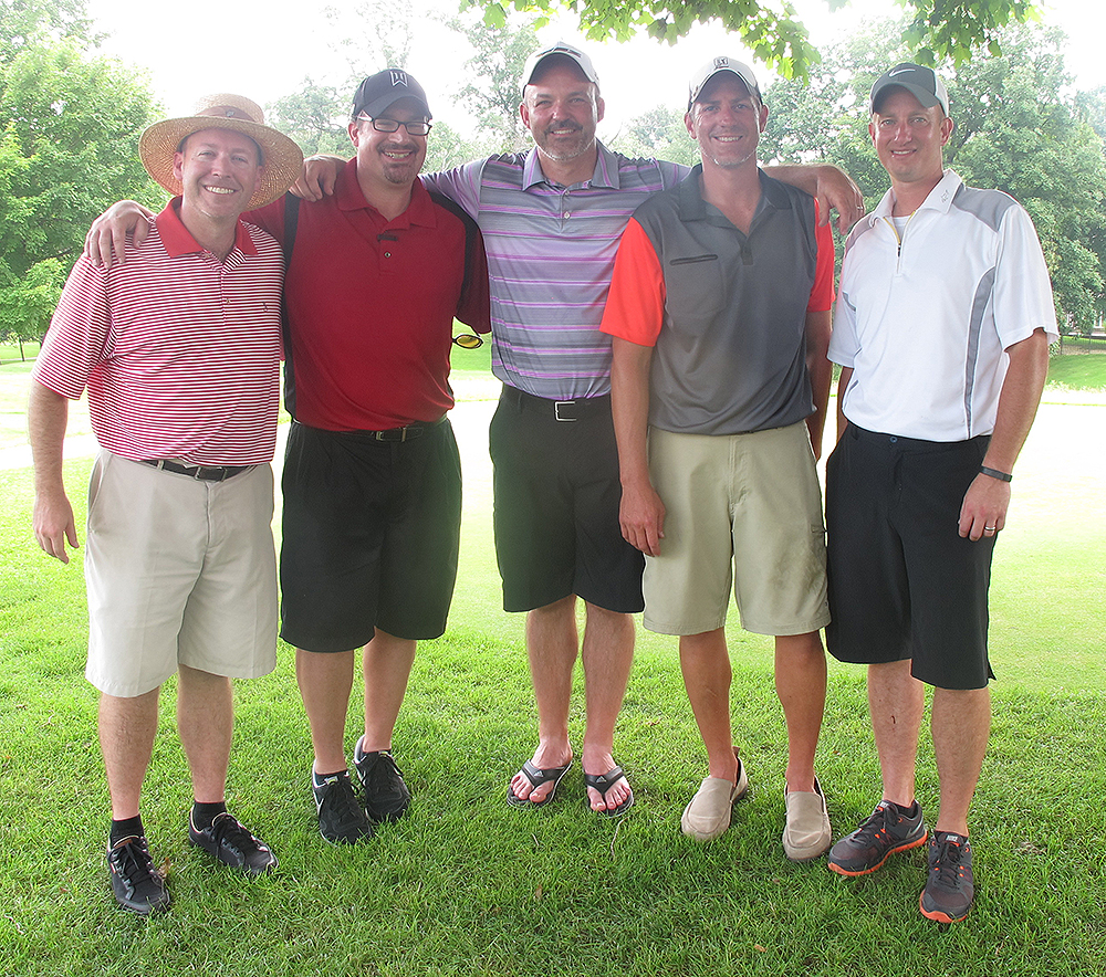From left, John Schwarb, Tom Biersdorfer, JR Ross, Greg Bardonner and Brad Watts