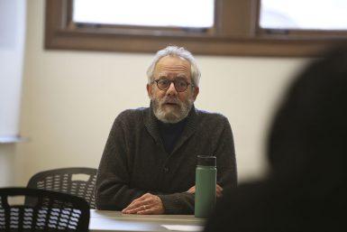 Professor Greg Waller shared advice on Skype interviews. (Emma Knutson | The Media School)