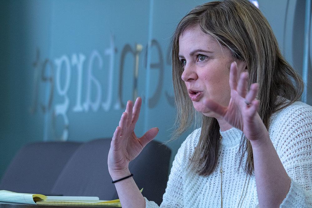 Lisa Seidenberg, associate vice president of media relations