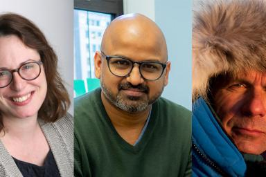 Headshots of Maggie Haberman, Rafat Ali and James Balog