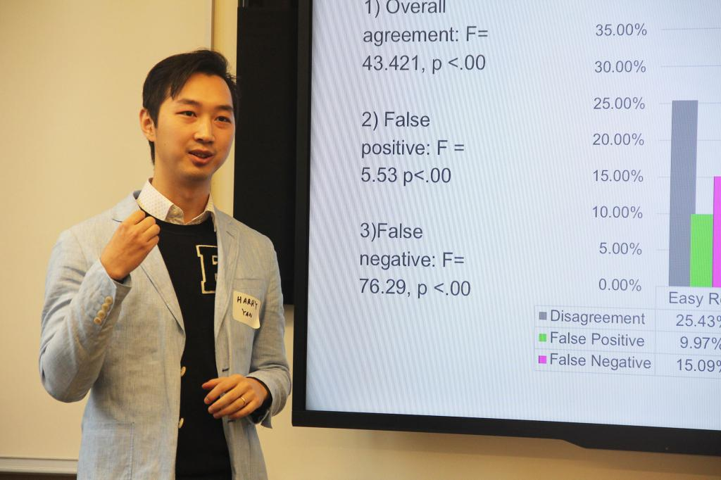 "Media School doctoral student Harry Yan presents his paper, ""Welcome to the Matrix: The Effects of Bots Recognition on Self-efficacy, Third-person Perceptions and Policy Preferences,"" in the session, ""Misinformation & Credibility in the Fake News Era."""
