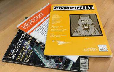 Three magazines: Microcosm, Kilobaud: The Small Computer Magazine and Computist.