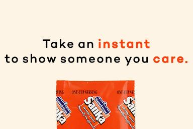 Take an instant to show someone you care.