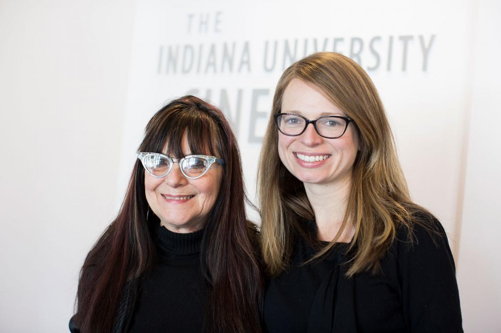Experimental filmmaker MM Serra (left) and Noelle Griffis, PhD'18.