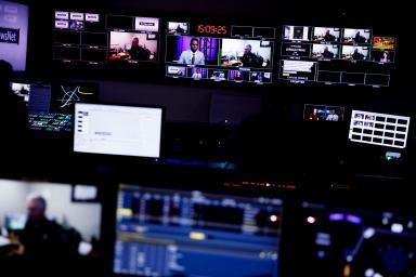 The Beckley Studio control room