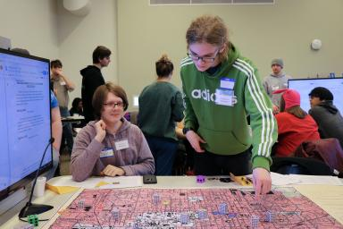 Jocelyn Beedie and Grant Stumler play a megagame