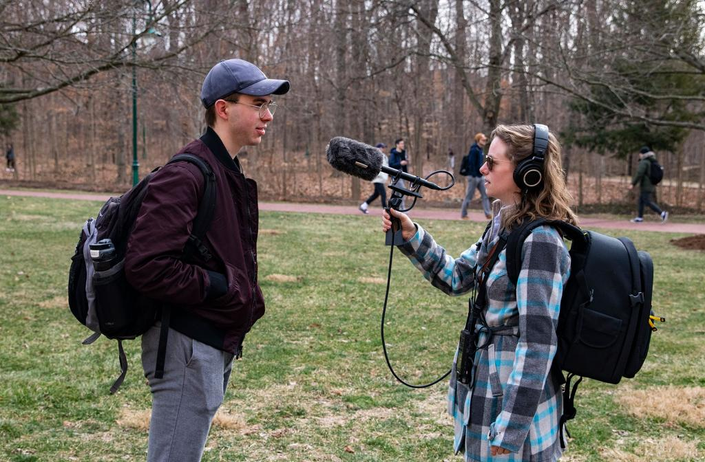 """In This Climate"" producer Emily Miles interviews Chris Forrester."