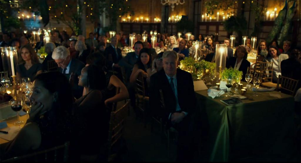 People at a fancy dinner party.