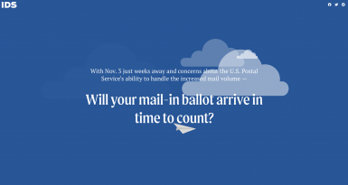 With Nov. 3 just weeks away and concerns about the U.S. Postal Service's ability to handle the increased mail volume — Will your mail-in ballot arrive in time to count?