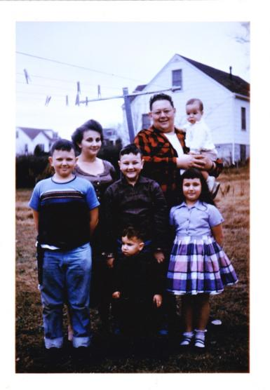 An old photo of Catfish Russ's family