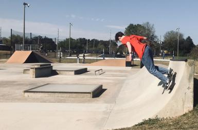 Ethan Williams skating