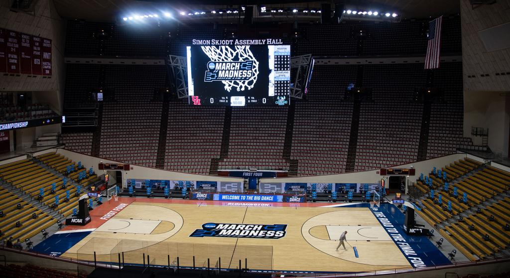 The inside of Assembly Hall