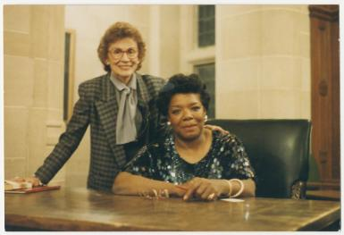 Phyllis Klotman and Maya Angelou