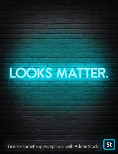 Looks matter. License something exceptional with Adobe Stock.