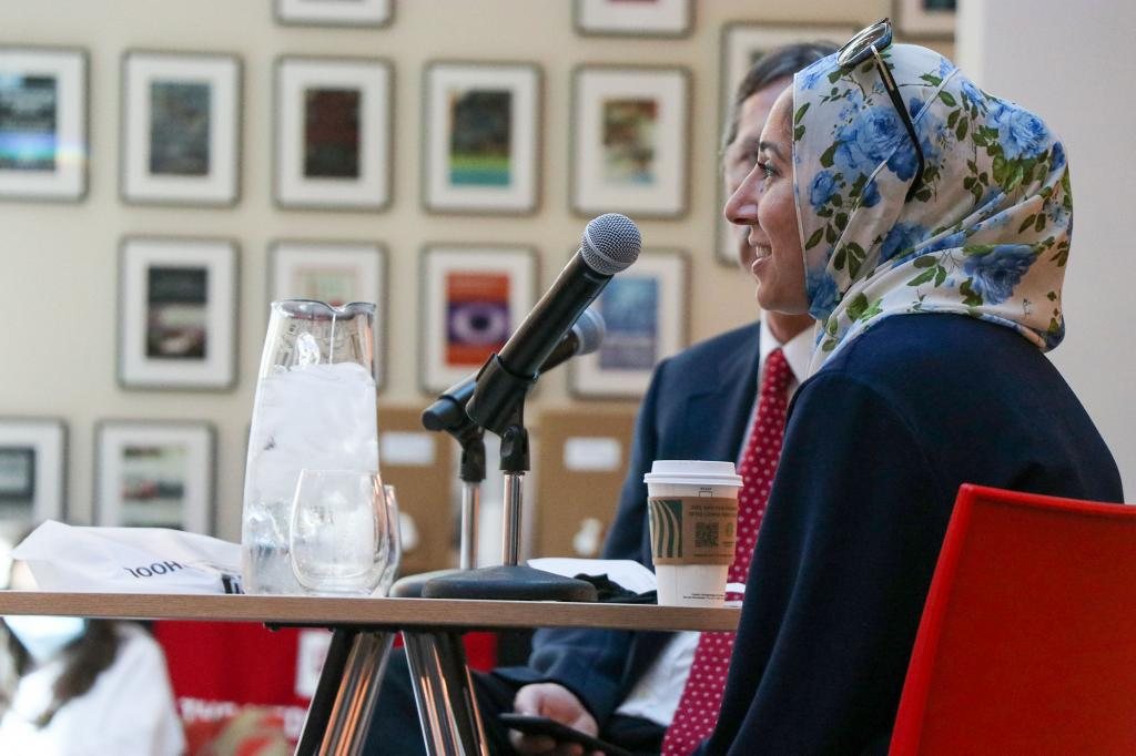 Asma Khalid speaks in Franklin Hall